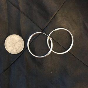 Jewelry - Sterling Silver Hoop Earrings.